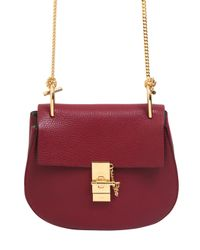 Chloé | Purple Small Drew Grained Nappa Leather Bag | Lyst
