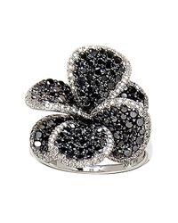 Effy | Black Diamond, White Diamond And 14k White Gold Cocktail Ring, 2.29 Tcw | Lyst