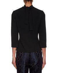 Dolce & Gabbana - Black High-neck Cady Top - Lyst