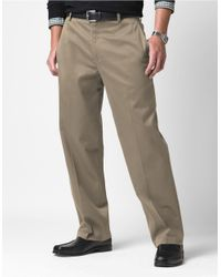 Dockers | Natural Flat-front Khaki Pants for Men | Lyst