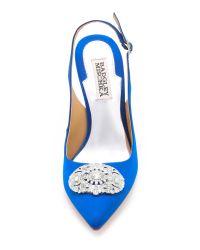 Badgley Mischka | Blue Sansa Sling Back Pumps - Sapphire | Lyst
