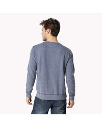 Tommy Hilfiger | Blue Cotton Blend Sweater for Men | Lyst