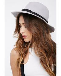 Forever 21 - Gray Twisted Band Wool Fedora - Lyst