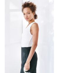 Silence + Noise - White Take The Plunge Tank Top - Lyst