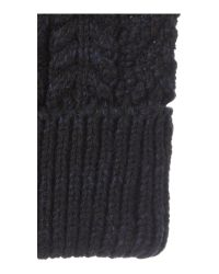 Howick - Blue Chunky Cable Knit Beanie Hat for Men - Lyst