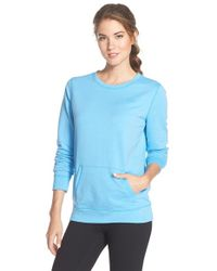 Under Armour | Blue Coldgear Crewneck Pullover Sweatshirt | Lyst