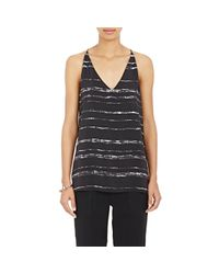 VINCE | Black Women's Shadow Stripe Tank | Lyst