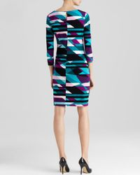 Calvin Klein - Multicolor Geometric Print Dress - Lyst