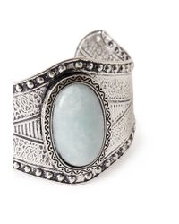 Forever 21 | Metallic Etched Faux Stone Cuff | Lyst