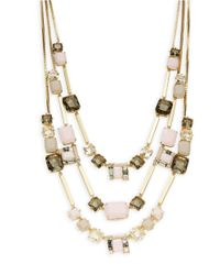 kate spade new york | Metallic Neapolitan Mosaic Strand Necklace | Lyst