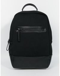 ASOS | Backpack In Scuba - Black for Men | Lyst