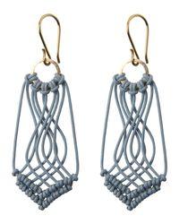 Toast | Metallic Helena Rohner Macrame Earrings | Lyst