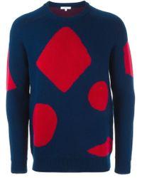 Kit Neale - Blue Geometric Form Intarsia Sweater for Men - Lyst
