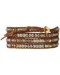 Chan Luu - Multicolor 32' Aqua Terra Crystal Wrap Bracelet - Lyst