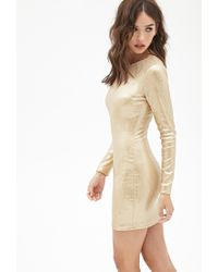 Forever 21 - Metallic Sequined Bodycon Dress - Lyst
