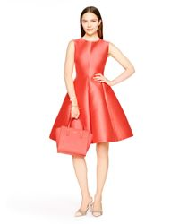 kate spade new york | Red Heritage Fit And Flare Dress | Lyst