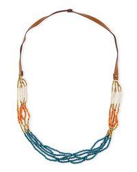 Panacea | Multicolor Colorblock Multi-strand Beaded Necklace | Lyst