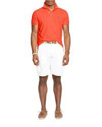 Polo Ralph Lauren   Orange Custom-Fit Mesh Polo Shirt for Men   Lyst