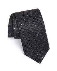 BOSS - Gray Dot & Houndstooth Silk Tie for Men - Lyst
