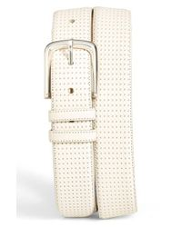 Mezlan | White 'diver' Leather Belt for Men | Lyst