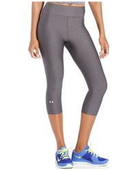 Under Armour | Black Heatgear® Alpha Compression Capri | Lyst