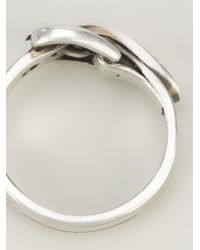 Ann Demeulemeester - Metallic Belt Ring for Men - Lyst