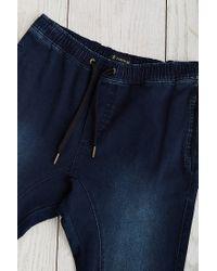 Zanerobe - Salerno Blue Black Elastic Waist Jean for Men - Lyst