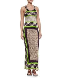 Jean Paul Gaultier - Natural Scarf-print Fitted Tank Dress - Lyst