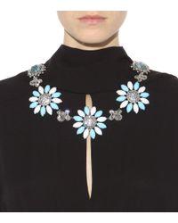 Miu Miu - Blue Crystal-embellished Necklace - Lyst