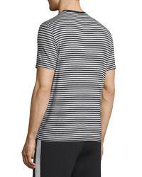 ATM - Gray Striped Short-sleeve Crewneck T-shirt for Men - Lyst