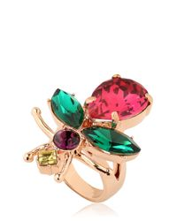 Mawi | Multicolor Love Bug Crystal Ring | Lyst