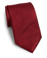 Saks Fifth Avenue | Red Diamond Print Silk Tie for Men | Lyst