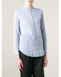 Forte Forte | Blue Mandarin Collar Tunic | Lyst