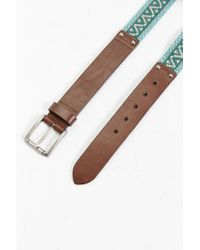 Urban Outfitters - Green Uo Leather Weave Belt - Lyst