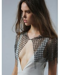 Free People | Metallic Kenny Ma Womens Somebody To Love Capelet | Lyst