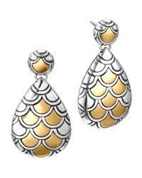 John Hardy - Metallic Naga Gold & Silver Pearl-shape Earrings - Lyst
