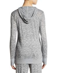 Saks Fifth Avenue - Gray Space-dyed Hooded Pullover - Lyst