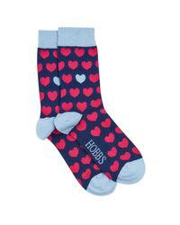 Hobbs   Blue Heart Sock   Lyst