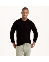 J.Crew - Black Cable Cotton Sweater for Men - Lyst