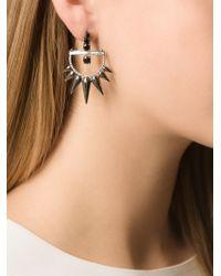 Elise Dray - Metallic Spinel Spiked Diamond Earrings - Lyst
