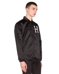 Huf - Black Satin Coaches Jacket for Men - Lyst
