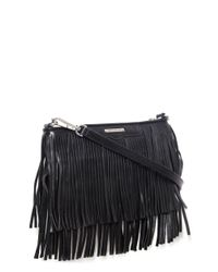 Rebecca Minkoff | Black Finn Crossbody Bag | Lyst