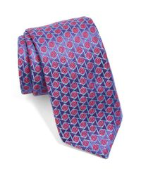 Ted Baker | Purple Geometric Silk Tie for Men | Lyst