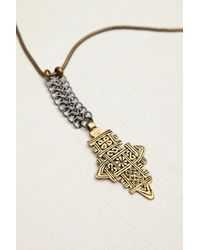 Free People | Metallic Biko Womens Mira Pendant | Lyst
