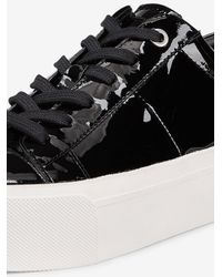 DKNY - Black Bari Patent Platform Sneaker - Lyst