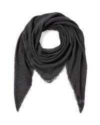 Brunello Cucinelli | Gray Linen-Silk Scarf - Black | Lyst