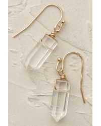 Anthropologie | White Athene Stone Drop Earrings | Lyst