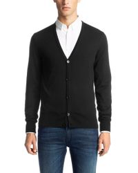 HUGO | Black Cardigan In New Wool: 'siadario' for Men | Lyst