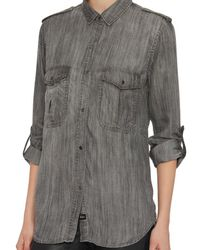 Rails - Natural Exclusive Adrianne Shirt: Grey - Lyst