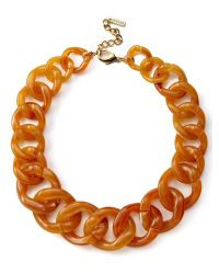 Jaeger | Orange Chunky Resin Chain Necklace | Lyst